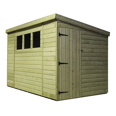 Pent Shed 6 X 3 by 10 X 6 Pressure Treated Tongue And Groove Pent Shed With 3