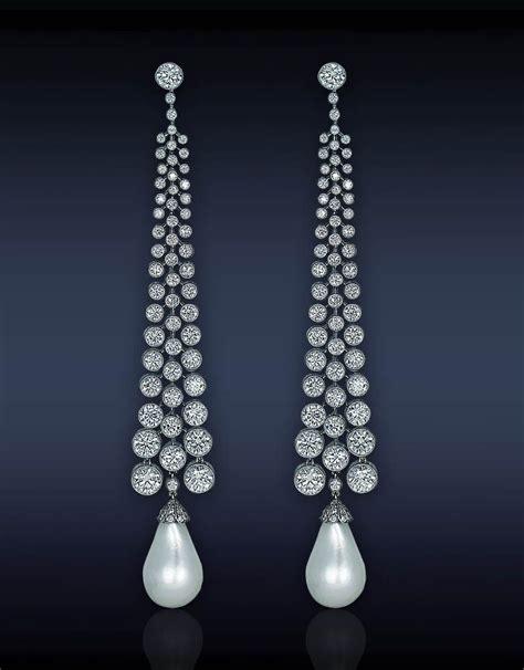 Kalung Hanging Big Diamonds Necklace pearl drop earrings trendy fashion jewelry pearl drop