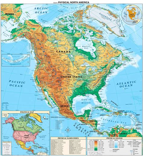 map of usa and maps america physical map