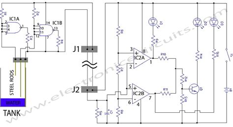 water tank level controller circuit diagram gt circuits gt water level indicator l41545 next gr
