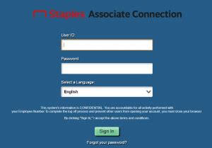 staples associate connection login sign  guide easy