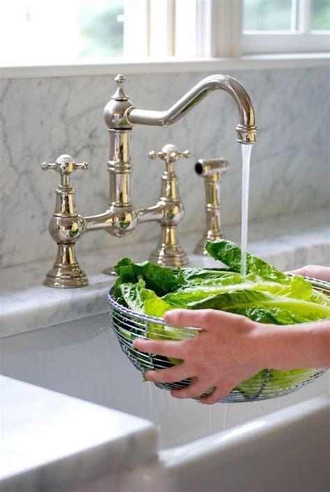 farmhouse kitchen faucet pertaining to brass bridge with