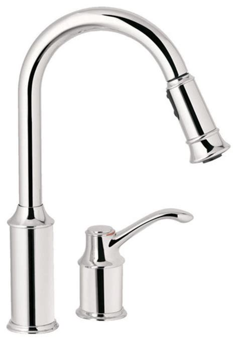 kitchen faucets contemporary moen aberdeen one kitchen single handle faucet