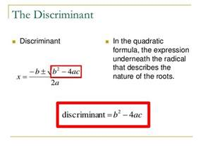 16 6 quadratic formula amp discriminant