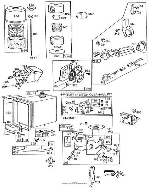 briggs and stratton fuel diagram briggs and stratton 254427 0127 01 parts diagram for carb