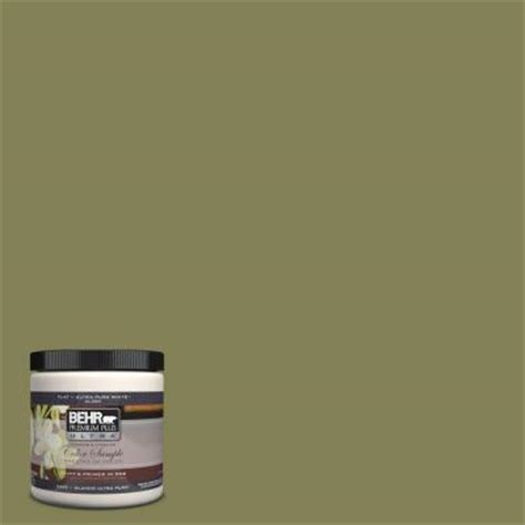 behr premium plus ultra 8 oz pmd 47 martini olive interior exterior paint sle pmd 47u the