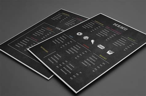 menu card design templates free 25 free restaurant menu templates covers psd vector