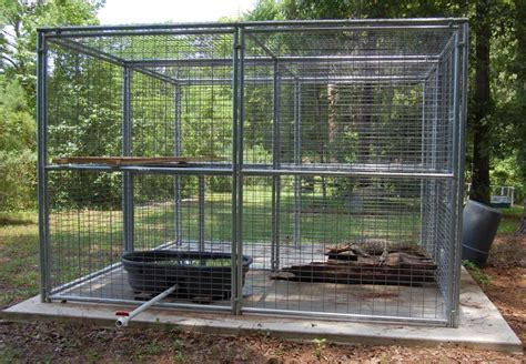 outside cages connected by pets