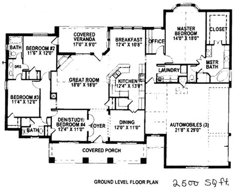 2500 sq ft ranch house plans ranch house plans under 2500 square feet