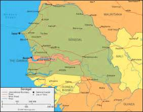 Senegal Africa Map by Senegal Map And Satellite Image