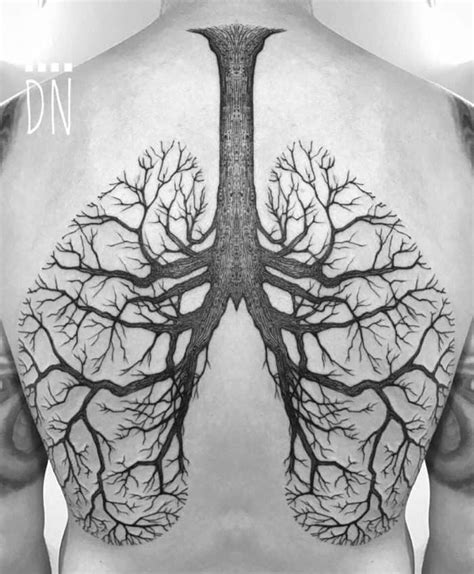 lung cancer tattoos for men 20 eye catching lung designs pictures sheideas
