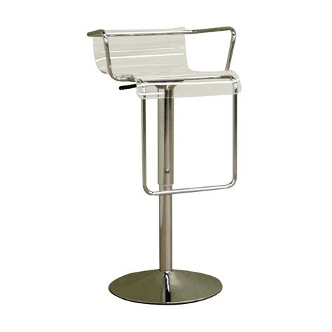 Clear Acrylic Bar Stool Baxton Studio Acrylic And Chrome Bar Stool Clear
