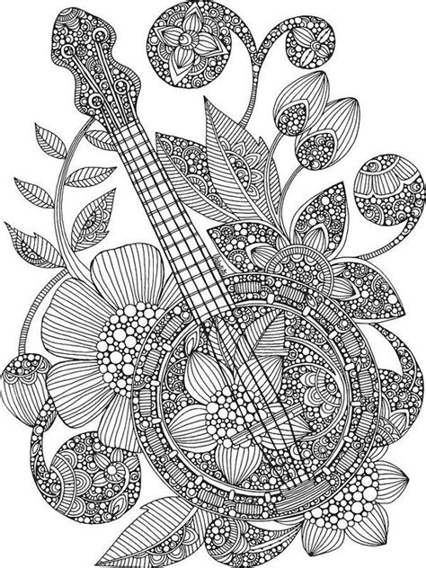 valentina designs coloring pages 313 best images about music coloring pages for adults on