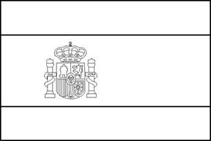 spain flag coloring page how to draw spains flag models picture