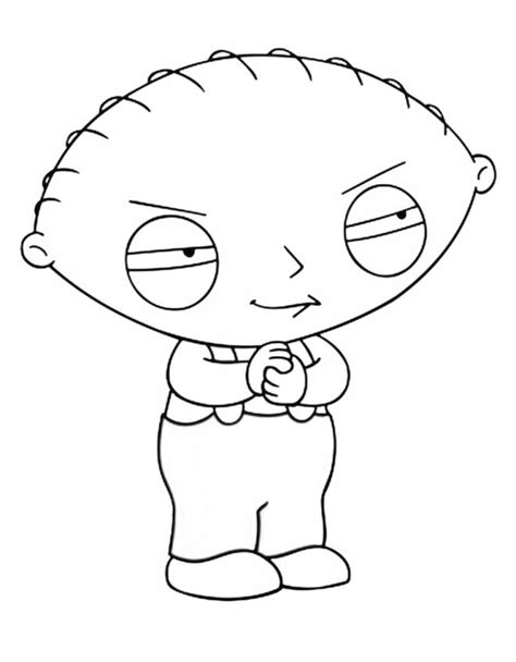 family guy coloring page stewie pages activity tattoo