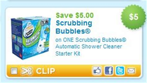 scrubbing bubbles bathroom cleaner coupon printable coupon alert scrubbing bubbles shower cleaner