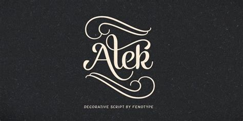 decorative font family alek decorative script font family by fenotype
