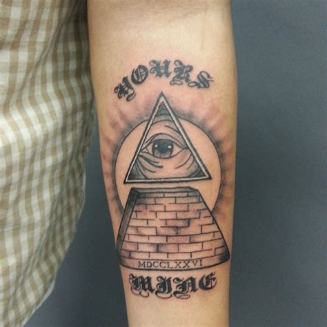 small illuminati tattoos pyramid tattoos designs ideas and meaning tattoos for you