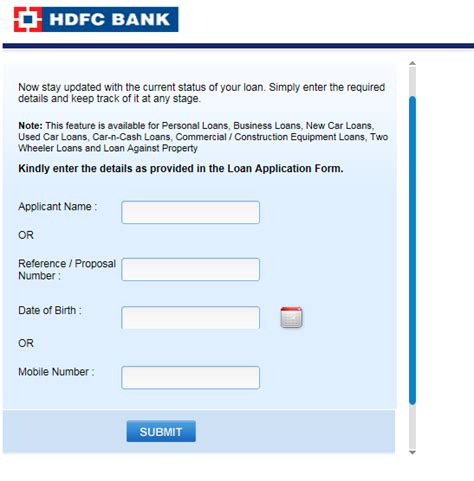 hdfc housing loan application status track status check your applications courier payment tax status and track job