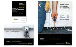 Contractor House Plans Electrician Flyer Amp Ad Template Design