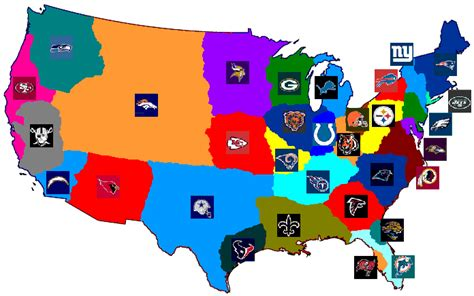 map usa football teams cartophilia maps and map memorabilia football tv