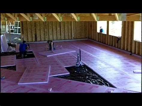 how to insulate a concrete basement floor installing foam slab insulation mov