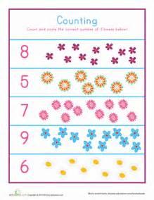 flower counting worksheet education com