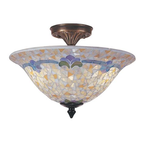Mosaic Ceiling Light Fixtures by Dale Tm100553 Johana Mosaic Semi Flush Mount