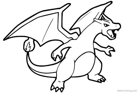 Charizard Y Coloring Page by Mega Charizard X Coloring Page Free Printable