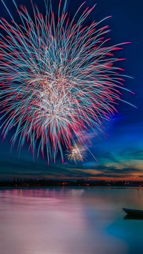 wallpaper celebrations fireworks reflections lake hd celebrations  wallpaper