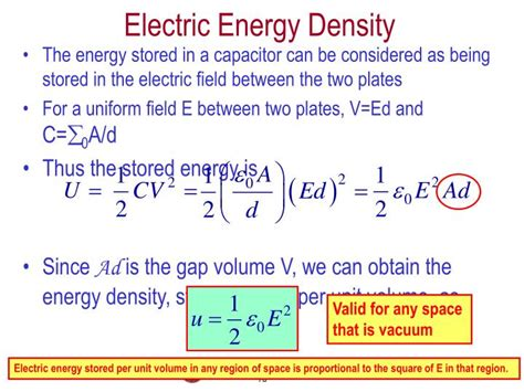 capacitor energy density calculator energy density in a capacitor formula 28 images chapter 26 capacitance 26 1 definition of