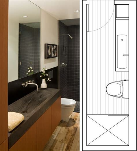 narrow bathroom design narrow bathroom layout guest bathroom effective use of