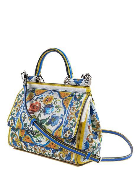 Dolce Gabbana Haircalf Tote by Majolica Print Sicliy Tote By Dolce Gabbana Totes Bags