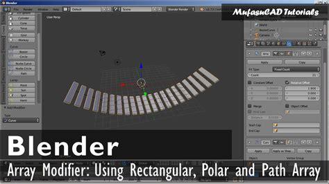 blender tutorial array blender array modifier tutorial youtube