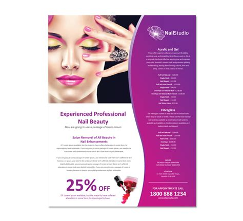 Beauty Salon Brochures Renanlopes Me Nail Brochure Templates Free