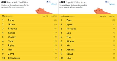 names for big dogs the most popular breeds and names in nyc mapped