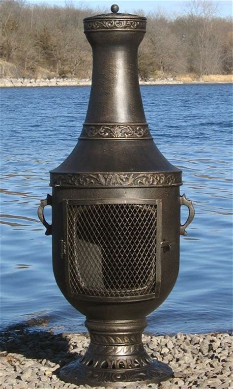 Chiminea Gas by Venetian Style Chiminea Outdoor Fireplace With Gas Kit