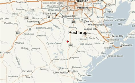 rosharon texas map rosharon weather forecast