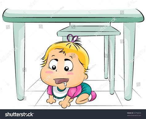 the table hungry baby table vector stock vector 32756032