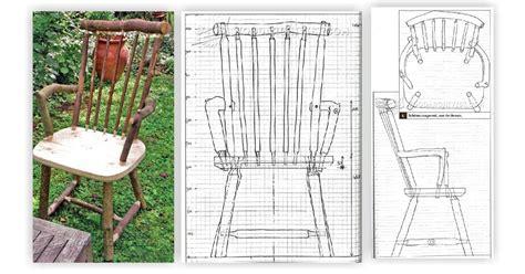 rustic chair plans woodarchivist