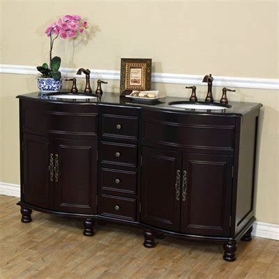 62 bathroom vanity bellaterra home 62 inch double sink bathroom vanity black