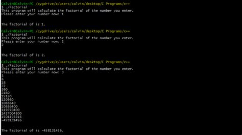 infinity factorial c factorial program give infinity for any number greater