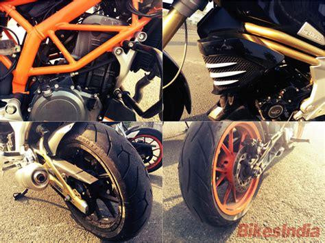 Ktm Duke 390 Tyres Mahindra Mojo Vs Ktm Duke 390 The Comparison Of The Two