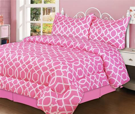 Pink Hk Set Pink beatrice home fashions kid s comforter sets
