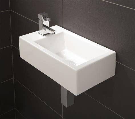 small deep bathroom sinks hib rialto metro cloakroom basin 440 x 250mm 9770