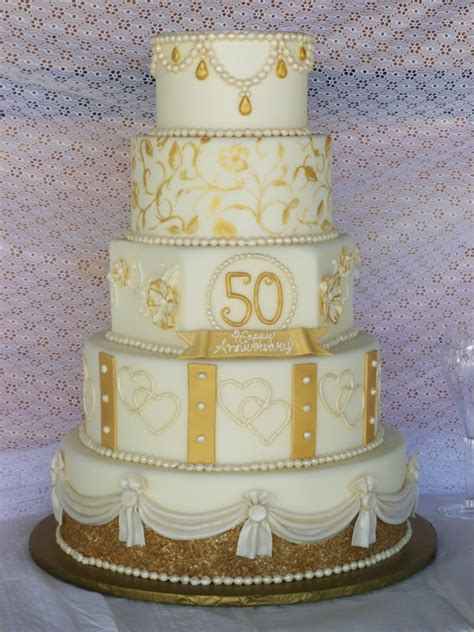 50th Wedding Anniversary Gift Ideas Gold by Golden Anniversary Cake Cakecentral