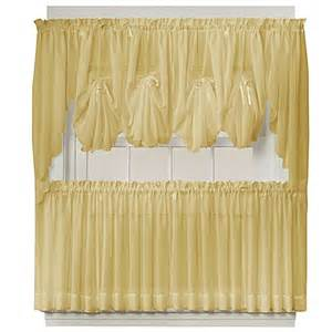 Sheer Tier Curtains Buy Emelia 24 Inch Sheer Window Curtain Tier Pair In Gold From Bed Bath Beyond