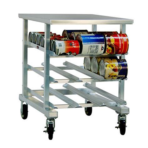 Can Racks by Half Size Aluminum Mobile Can Rack With Stainless Steel