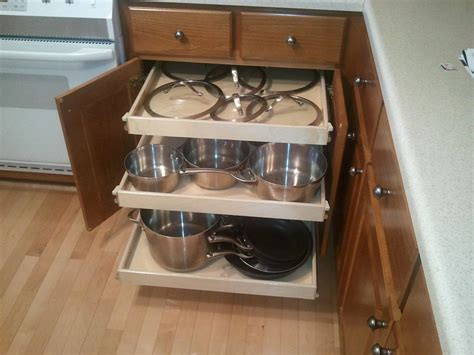 Cabinet Roll Out Shelves by Shelfgenie Of Greater Houston Slide Out Kitchen Renovation