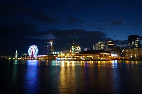 imagenes de japon de noche fondo de pantalla de ciudad noche luces noria osaka
